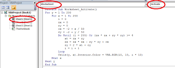 excel tutorial mandelbrot set fractal