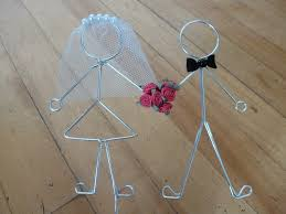 wire cake toppers wedding cake heatherboydwire s