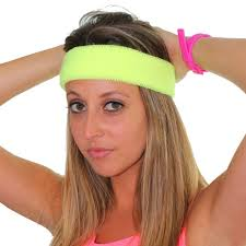 80 s headbands 80 s neon blue headband unisex clothing