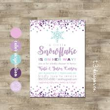 Winter Wonderland Baby Shower Snowflake Baby Shower Invitation Winter Baby Shower