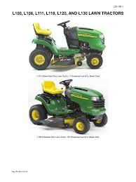 john deere l100series lawn mower mower