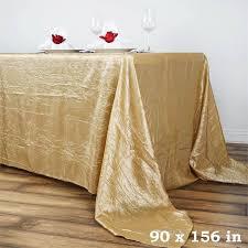 90 x 156 table 90x156 crinkle taffeta tablecloth chagne efavormart
