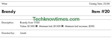 Silent Auction Bid Sheet Template Silent Auction Bid Sheet Bid Sheet Template Silent Auction Bid