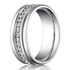 mens white gold wedding rings 6mm benchmark palladium men s diamond eternity wedding ring