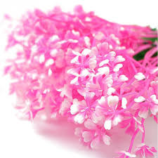 shop pink aquatic plastic flower plant fish tank