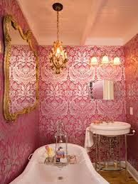 Wallpaper Ideas For Small Bathroom Reasons To Love Retro Pink Tiled Bathrooms Hgtv U0027s Decorating