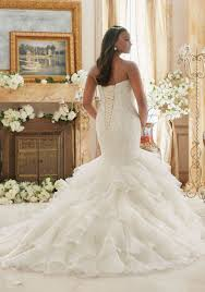 crystal beaded embroidered lace meets flounced organza plus size