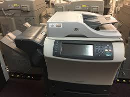 hp 4345mfp 4345 monochrome copier printer scanner with stapler