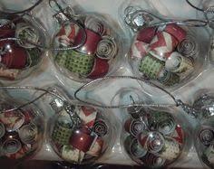 set of 6 2 375 inch clear glass light bulb ornaments