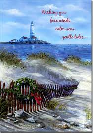 fence lighthouse box of 18 coastal cards by