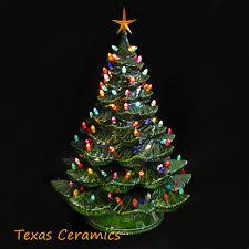 ceramic christmas tree with lights cracker barrel giant ceramic christmas tree 24 inches tall green tree colorful