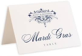 Table Name Cards flirty eyes vintage monogram flourish wedding table name cards