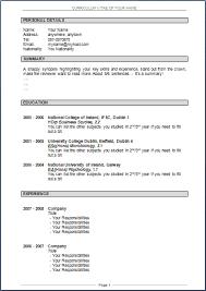 curriculum vitae format template download resume templates doc free download 100 sle curriculum vitae