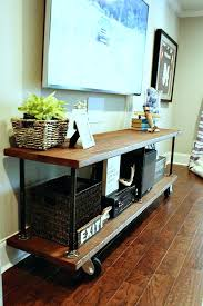 console table tv stand industrial style console table best 25 industrial tv stand ideas on