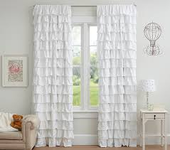 How To Hang Pottery Barn Curtains Ruffle Blackout Panel Pottery Barn Kids