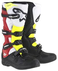 motocross boots alpinestars alpinestars tech 5 motocross boots motorcycle black white red yellow