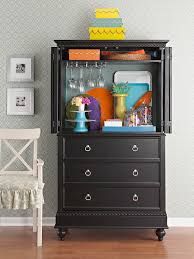 Dark Cherry Armoire Revamped Armoires For Small Space Storage With A New Look
