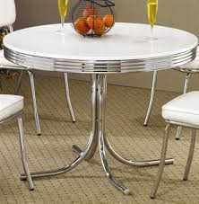 Retro Dining Table Chrome Metal S Kitchen Dinette By Coaster - Amazon kitchen tables