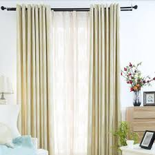 Green Curtains For Living Room by Ivory Yellow Polyester Striped Jacquard Modern Curtains For Living