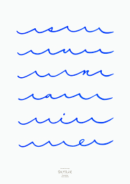 pattern design words waves forming words poster graphic design from terashima design
