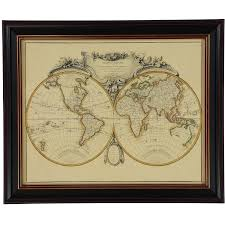 Large Wall World Map by Framed World Map Wall Art 59x49cm Wall Art Home Accessories