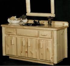 Pine Bathroom Furniture Northwoods Pine Log Bathroom Vanity