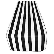 black and white table runners cheap amazon com artofabric decorative cotton 1 inch black and white