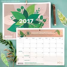 botanical calendars free printable 2017 eco tips calendar botanical paperworks
