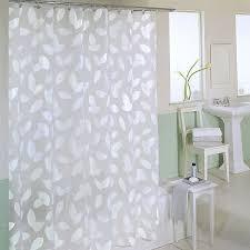 Clear Vinyl Shower Curtains Designs Bathroom Clear Shower Curtain With Design Of Modern Leaf And