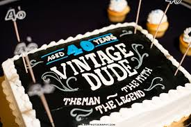 a 40 year vintage dude birthday cake 60th birthday party