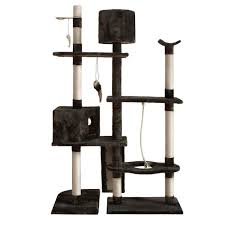 Large Cat Scratching Post Cat Scratching Poles Post Furniture Tree 170cm Grey