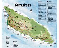 map of baton maps of aruba detailed map of aruba in tourist map