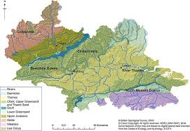thames river map europe integrated surface water groundwater modelling of the thames