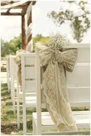 bows for chairs 40 hessian wedding ideas hessian and lace chair bahs in