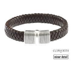 leather sterling bracelet images Mens bracelets in leather silver steel and carbon minor detail jpeg