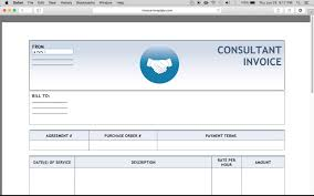 Consultancy Invoice Template Make A Free Consulting Invoice Excel Word Pdf Youtube