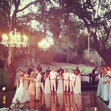 Backyard Wedding Lighting by This Is It Outdoor Forest Garden Wedding Love The Shiny Wood