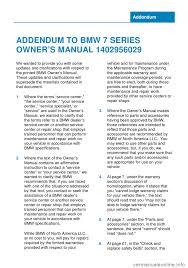 bmw 7 series 2014 f01 owner u0027s manual