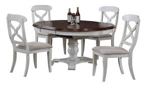 butterfly leaf dining table set bordeaux butterfly leaf dining table antique white and chestnut top