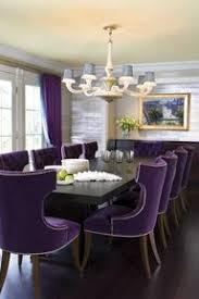 Aubergine Dining Chairs Aubergine Chairs In A Regency Redux Style Dining Room Apartment