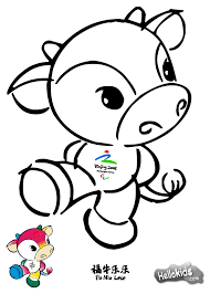 wenlock and mandeville london olympic mascots coloring pages