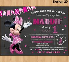 minnie mouse birthday party invitations template u2013 red birthday