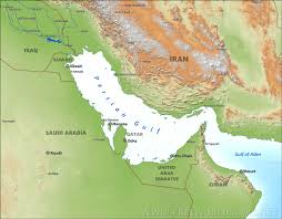 Middle East On World Map by Persian Gulf Maps