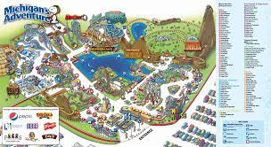 Map Of Disney World Parks Map Of Michigan Adventure Michigan Map