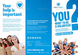 Volunteer Brochure Template by 20 Tri Fold Information Brochure Templates