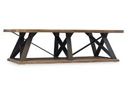 Trestle Coffee Table Hooker Grandover Cocktail Table Mathis Brothers Furniture Square