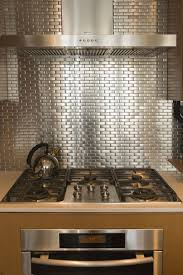kitchen backsplash steel mosaic tiles stainless stainless steel
