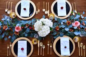 a modern thanksgiving tablescape fashion jackson