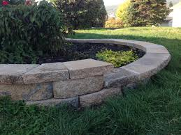cut stone caps for a curved retaining wall pretty purple door