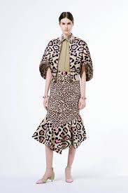 givenchy resort 2016 collection featuring green leopard print